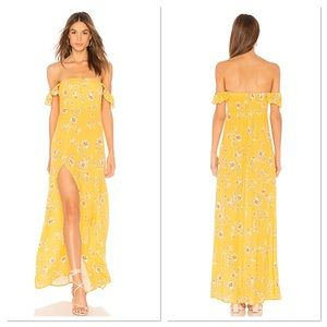 NWT Flynn Skye Bardot Touch of Honey Maxi Dress